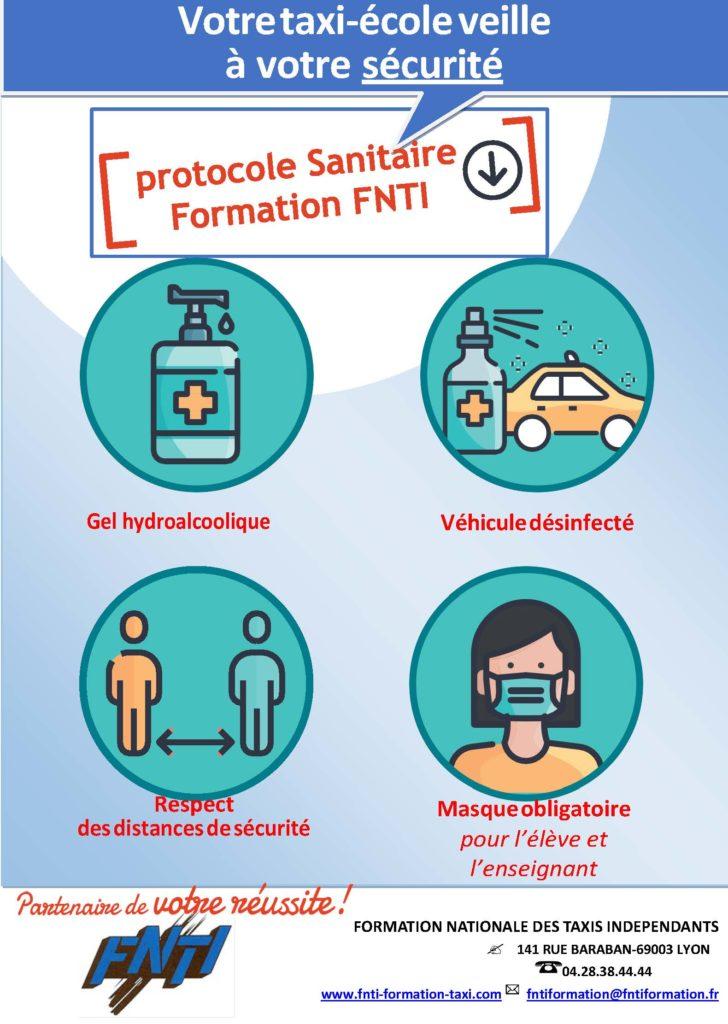 Protocole sanitaire cours Post Confinement de la Formation Nationale des Taxis Independant