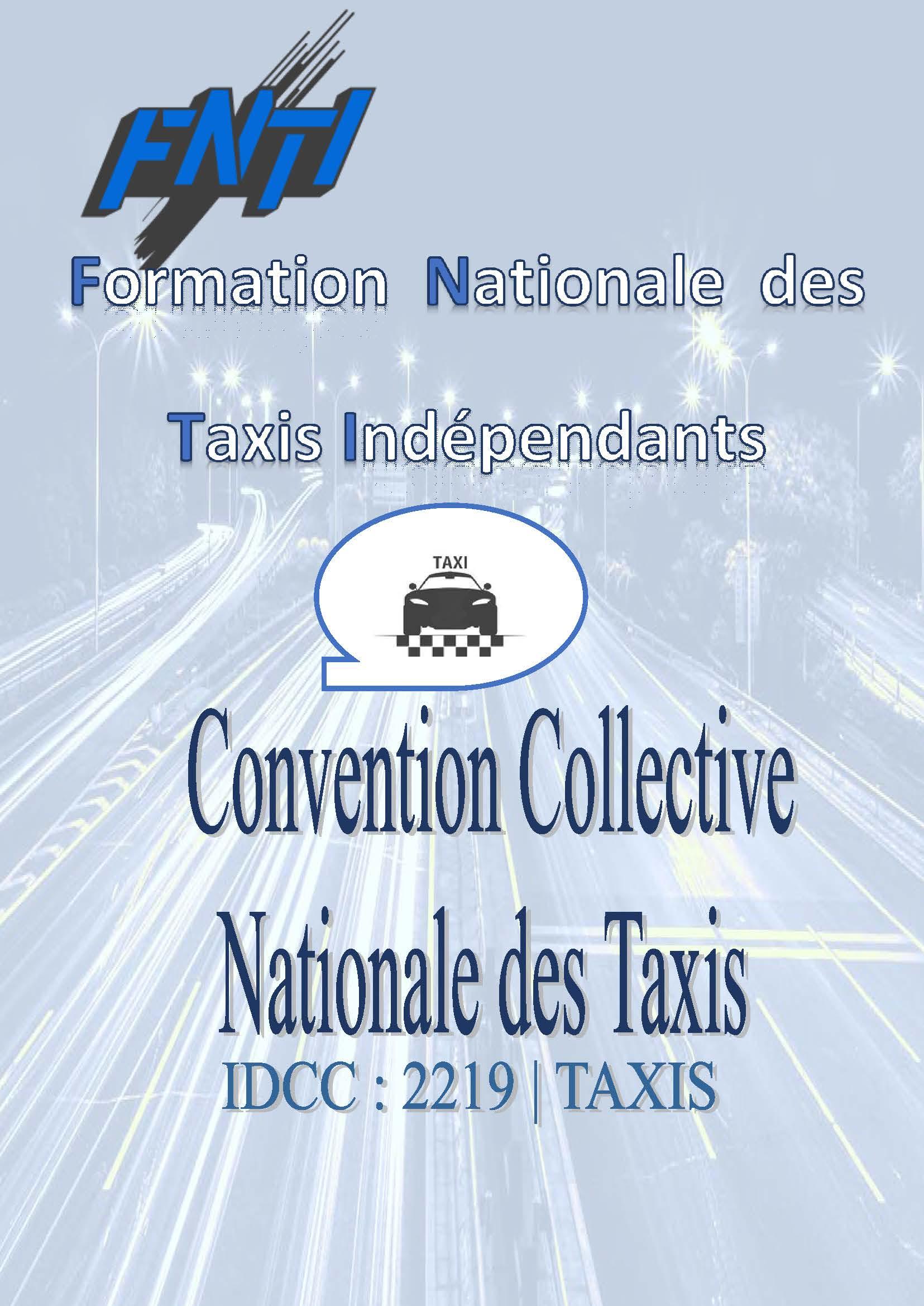 Image de la couverture de la Convention Collective des Taxis , mise à jour Déecembre 2020